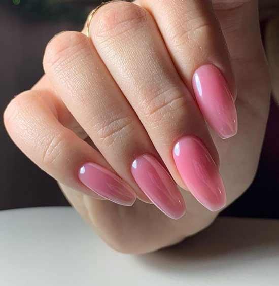 Стильный маникюр на ногти балерина