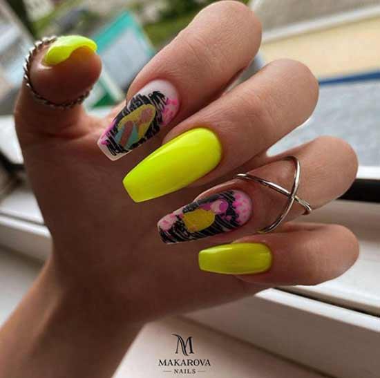 фото ногтей балерина с дизайном