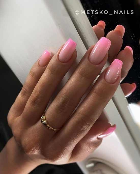 Розово-белое омбре