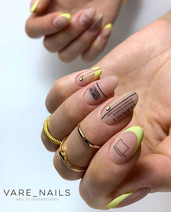 Яркий френч 2020-2021: фото-новинки яркого дизайна ногтей