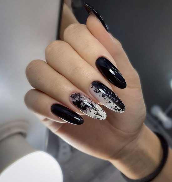 Черный на длинные ногти