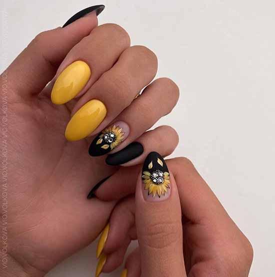 Черный маникюр на длинные ногти: фото, новинки красивого дизайна