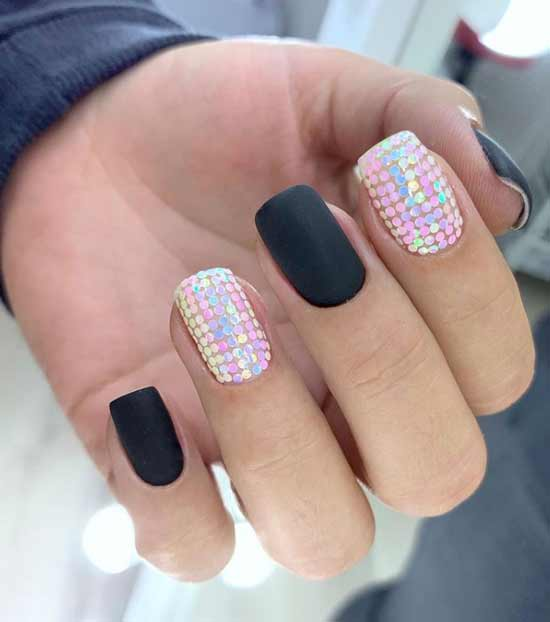 Диско-ногти с блестками