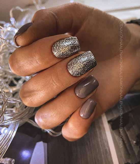 Дизайн ногтей с блестками: новинки маникюра на фото