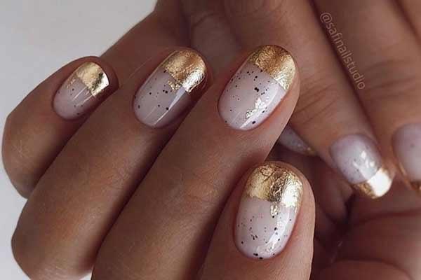 Дизайн ногтей с фольгой обзор фото