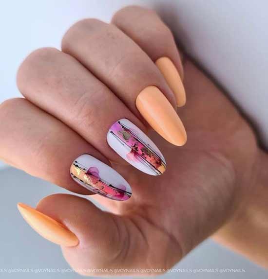 Дизайн ногтей с паутинкой