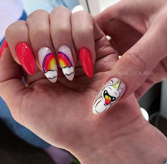 Дизайн ногтей с облаками