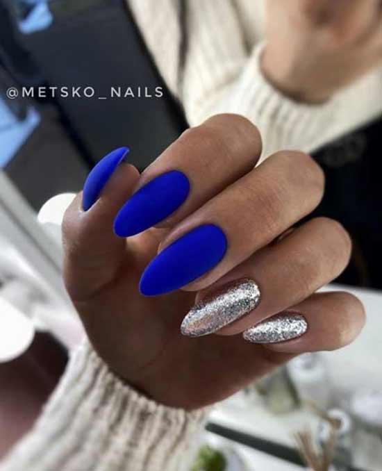 Новогодний синий с серебром