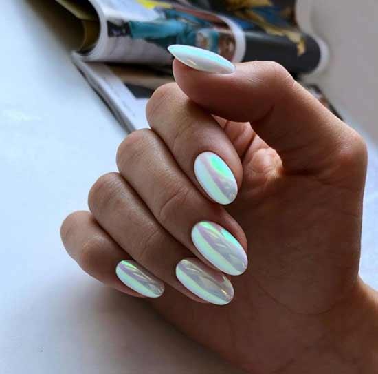 Дизайн ногтей с втиркой на Новый год фото