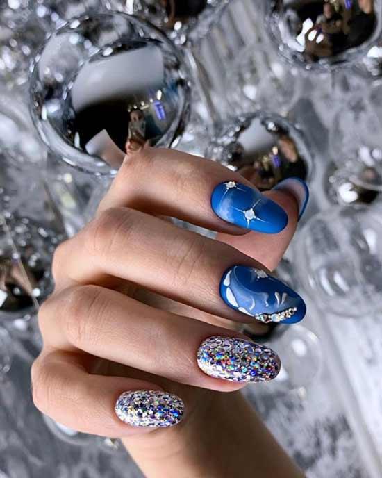 Новогодний дизайн ногтей на 2021 год