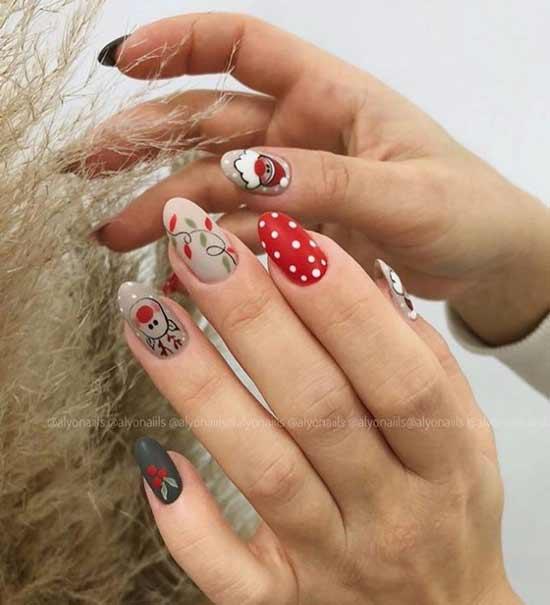 Дизайн ногтей с новогодними рисунками