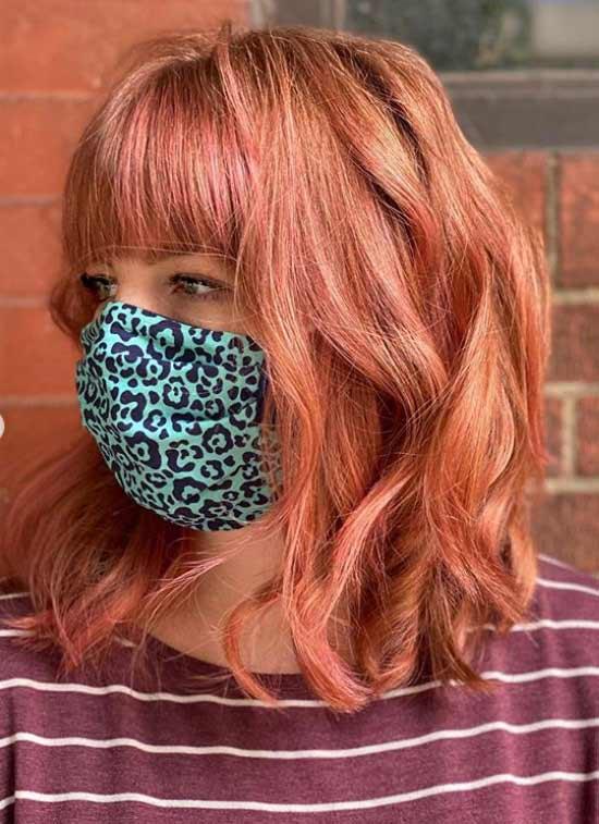 Рыжие волосы со стрижкой до плеч