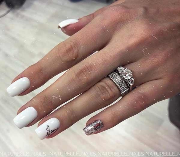 Белые ногти дизайн, фото
