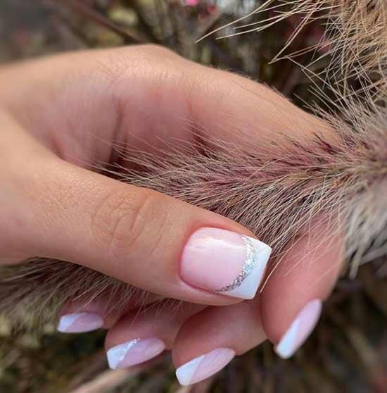 Маникюр френч на квадратные ногти