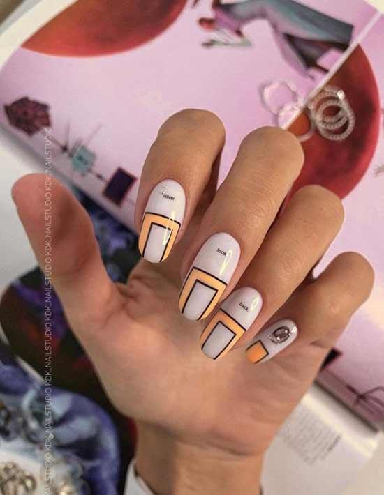 Необычный дизайн овальных ногтей