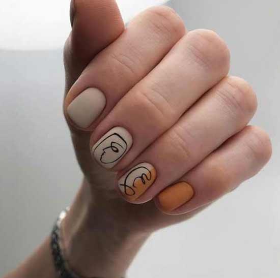 Необычные рисунки в дизайне ногтей