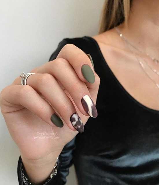 Оригинальный матовый дизайн ногтей