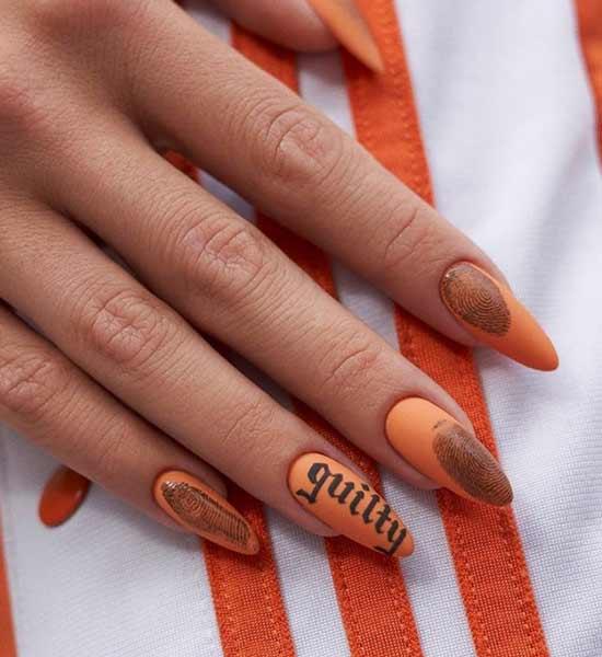 Оригинальный дизайн ногтей с отпечатком пальца на ногтей