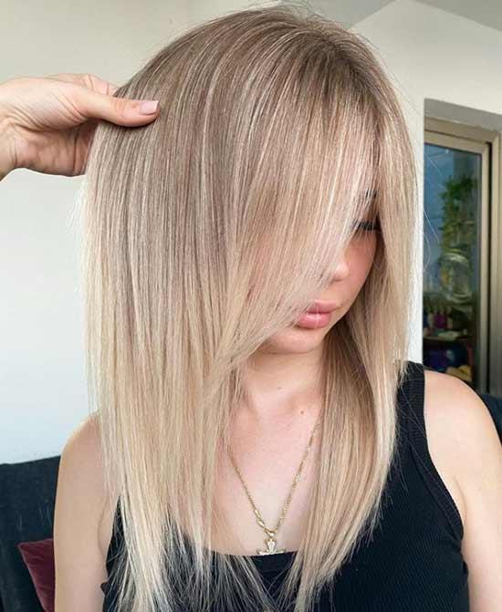 Длинные волосы и челка
