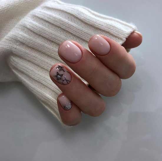 Короткие ногти маникюр зима