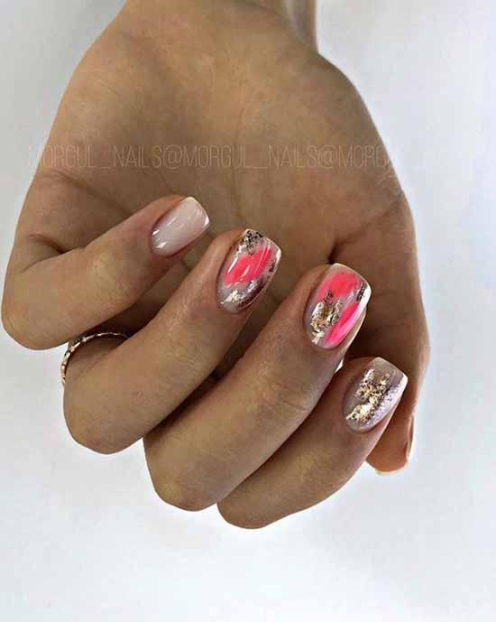Модный дизайн короткие ногти