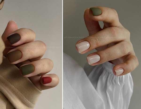 Красивые цвета на короткие ногти