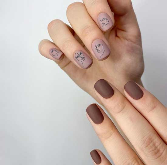 Короткие ногти дизайн на форму сквоовал