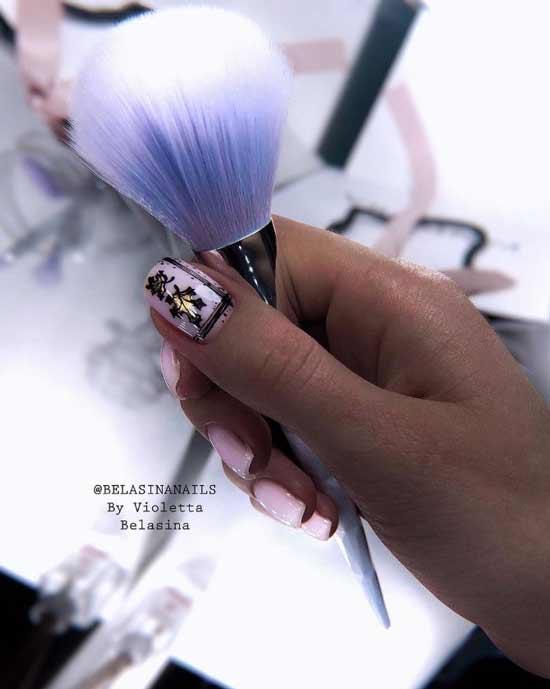 Осенний нейл-арт на ногтях гель лаком