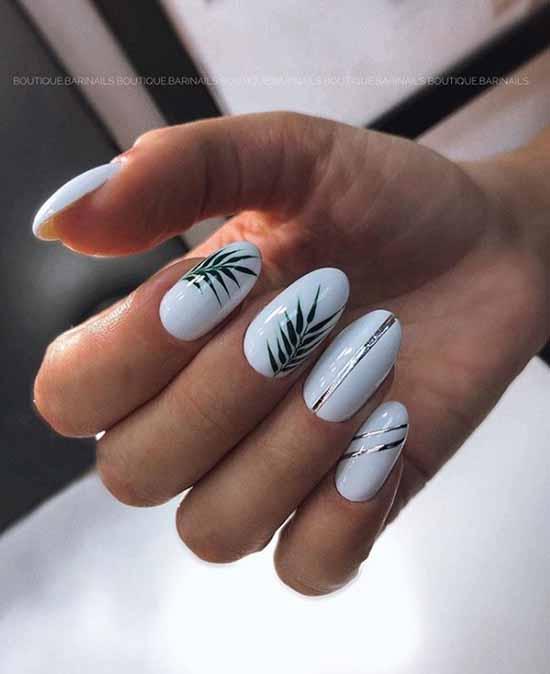 Белый гель-лак на ногтях