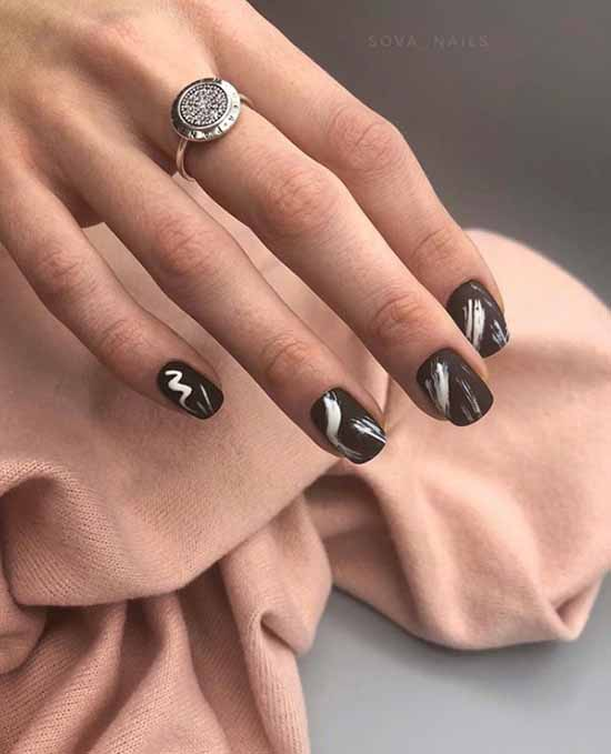 Стильный маникюр на короткие ногти: +100 новинок на фото