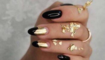 Поталь на ногтях в дизайне