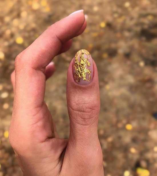 Поталь сетка на ногтях