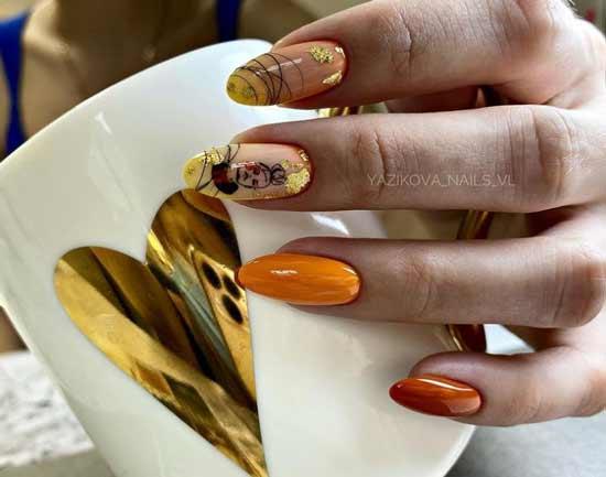 Поталь и слайдер на ногтях