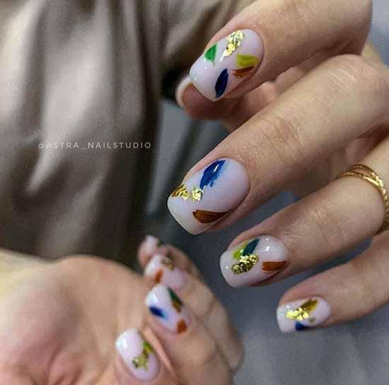 Поталь на ногтях: +100 фото маникюра, красивый дизайн