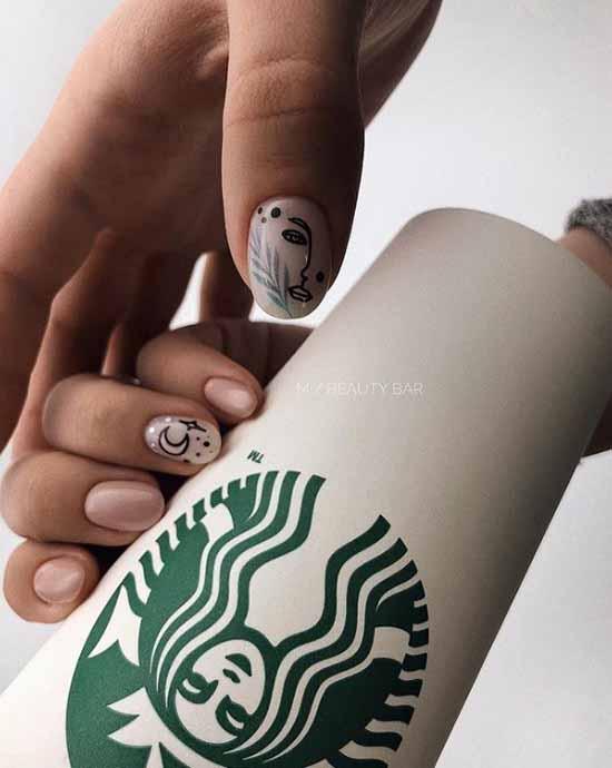 Бежевый маникюр с блестками: изящные идеи дизайна ногтей