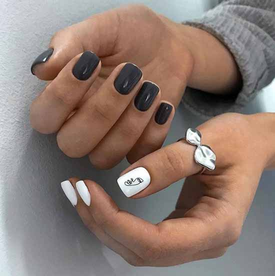 Дизайн на большом пальце руки