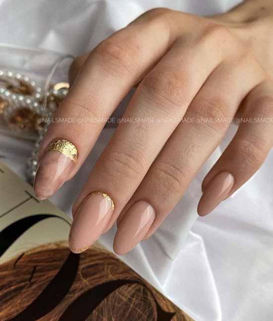 Маникюр с дизайном на одном ногте: новинки на фото