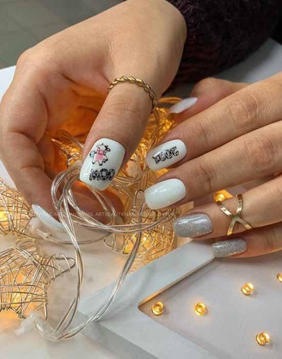 Дизайн ногтей на одном ногте