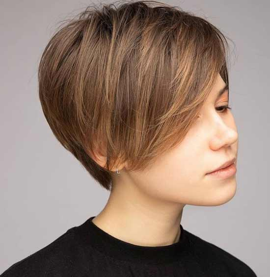 Густые волосы стрижка москвичка