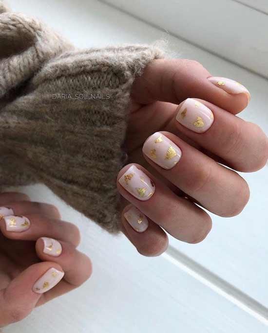 Зимний на короткие ногти