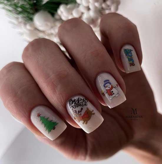 Зима дизайн ногтей