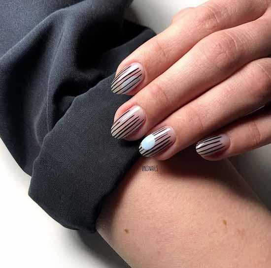 Средние ногти элегантный маникюр