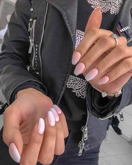 Нежный элегантный градиент на ногтях