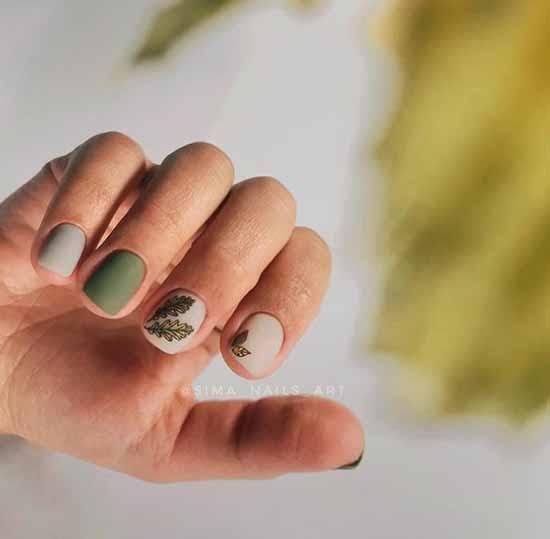 Хаки короткие ногти