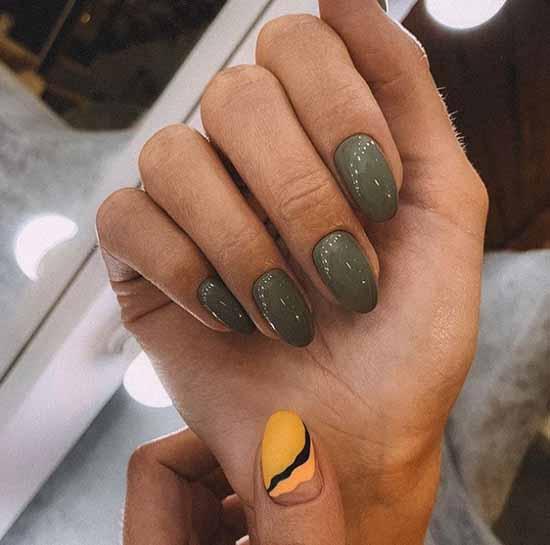 Хаки средняя длина ногтей