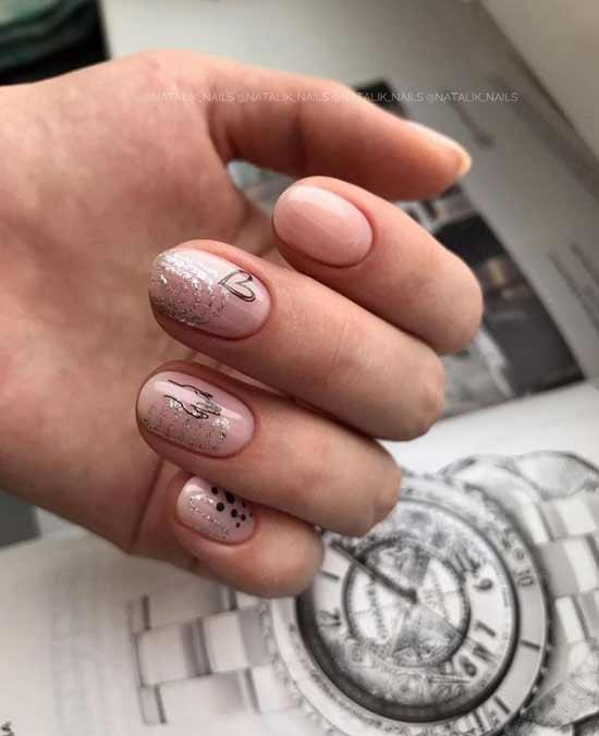 Ногти сердечко
