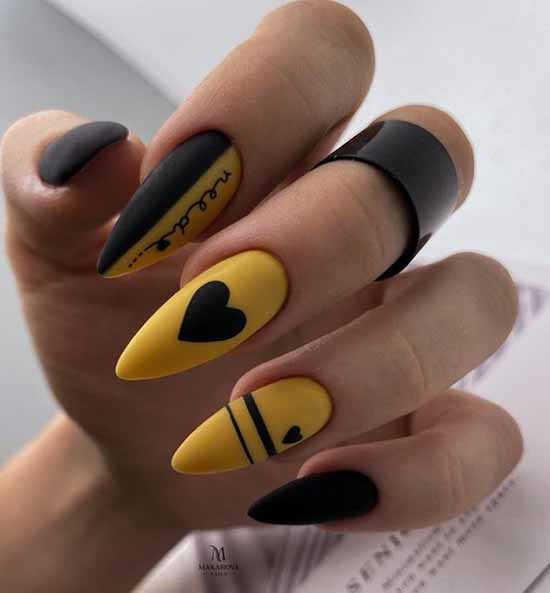 Длинные ногти с сердечком