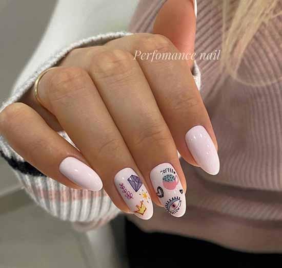 Дизайн ногтей маникюр с сердечком
