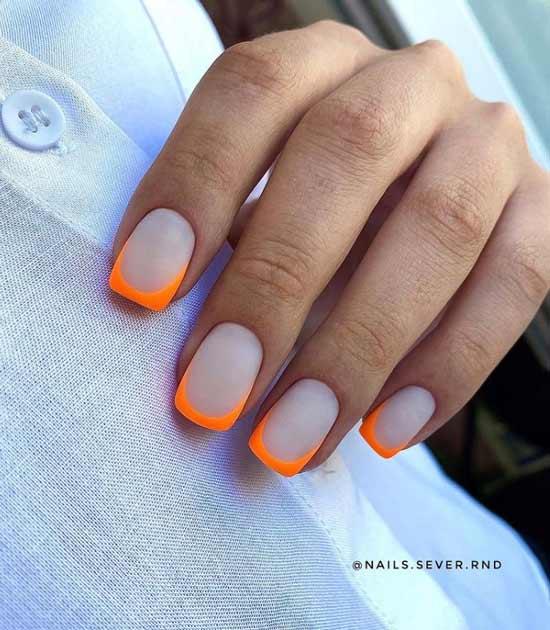 Оранжевый френч матовый