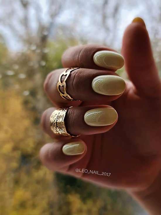 Желтый нежный дизайн ногтей